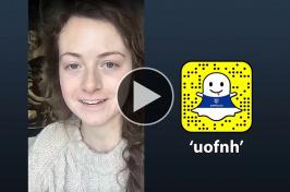 Samantha Barrett takes over the UNH snapchat account