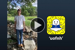 "New Hampshire Sea Grant undergraduate and graduate students take over the ""uofnh"" Snapchat account"
