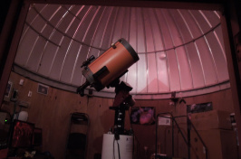 the telescope at the UNH observatory