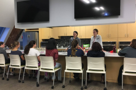 Nutrition workshop in demo kitchen at UNH Health Services
