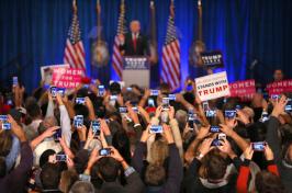 Image of crowd at a debate
