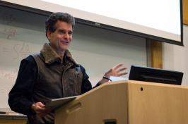 UNH Law professor speaking at podium