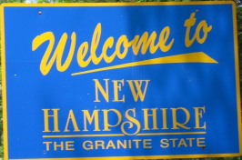 image of welcome to New Hampshire sign