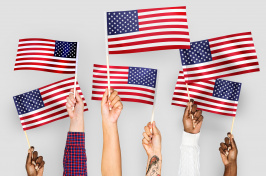 Image of US flags
