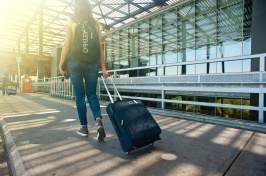 Image of adult with luggage