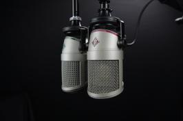 image of radio microphones