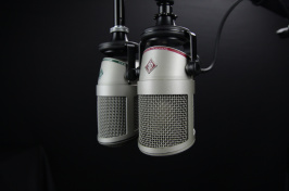 image of radio microphones