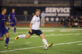 a UNH men's soccer player