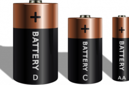 Four household batteries