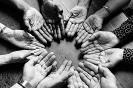 Image of hands in a circle
