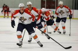 Florida Panthers forward Bobby Butler (26) skates during hockey training camp, Monday, Sept. 21, 2014, in Coral Springs, Fla. The Panthers play the Dallas Stars in their first preseason game of the season Wednesday. (AP Photo/Lynne Sladky) Lynne Sladky
