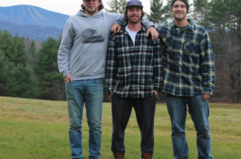 UNH alumni Ryan Kelly, Chris Lovell and Chip Linton of CocoChew LLC