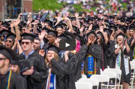 UNH graduates at commencement 2018