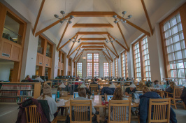 Inside Dimond Library at UNH