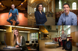 montage of 5 student fellows