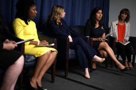 Florida State House candidate Anna Eskamani (second from right) speaks at a forum on the #MeToo movement Washington, D.C. on July 24, 2018.