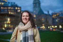 Jill Howard, UNH student, in Boston