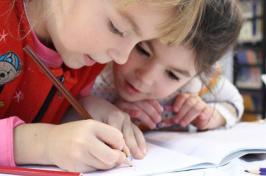 image of girls drawing