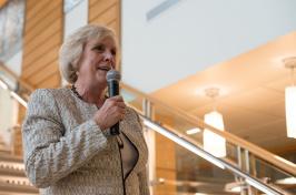 Dean Deborah Merrill-Sands at the UNH Peter T. Paul College of Business and Economics