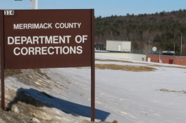 Sign at entrance of Merrimack County Jail, New Hampshire