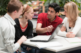 Image of students talking