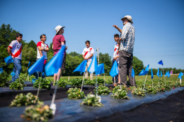 Peruvian farmers at the University of New Hampshire