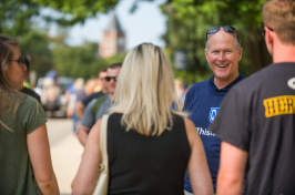 UNH President Jim Dean during move-in 2018-2019