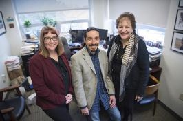 photo of Karen Van Gundy, Cesar Rebellon, and Ellen Cohn.
