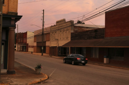 Empty storefronts in downtown Robersonville in North Carolina, Travis Dove for The New York Times