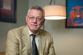 UNH professor Don Robin in his office in Hewitt Hall