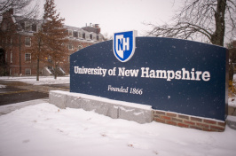The UNH campus in winter