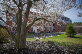 The UNH campus in spring
