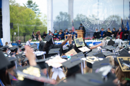 A view of the crowd at UNH Commencement 2018