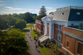 A view of UNH's Hamilton Smith Hall