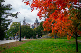 A view of the UNH campus in autumn