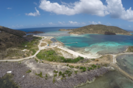 an aerial photo of the British Virgin Islands