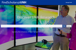 FindScholars@UNH Launches