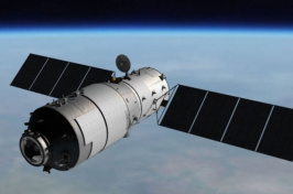 Artist's rendering of Tiangong-1 space station. SOURCE: CMSA - Chinese Manned Space Agency