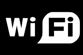 WiFi graphic - black and white