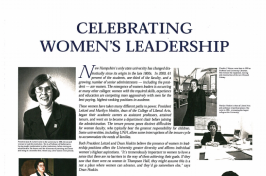 Celebrating women's leadership panel from A Century of Progress: A Photographic Exhibit of Women's History at UNH