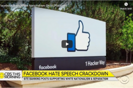 Facebook Bans White Nationalism On Its Platform (WGBH)