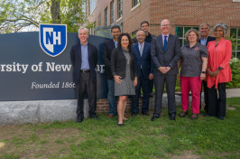 Members of the new business advisory council on lawn at UNH