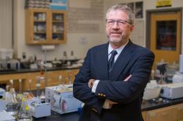 Professor William McDowell in his lab