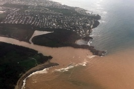 Scientists found similarities in how solutes such as salt were exported from different watersheds, but differences in how sediment, such as sand and silt, responded to the storm.