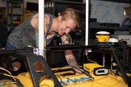 Lynette Davis in Cahse lab