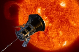 Illustration of Parker Solar Probe as it approaches the sun.