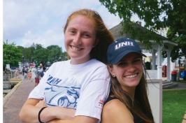 Hannah Stewart '20 (left) and Stephanie Gardner '18