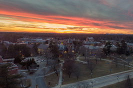 The UNH campus at sunset