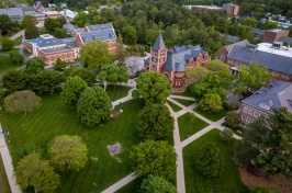 Aerial imge of University of New Hampshire campus