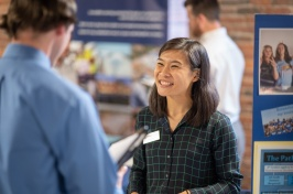 UNH Manchester students at Career Fair